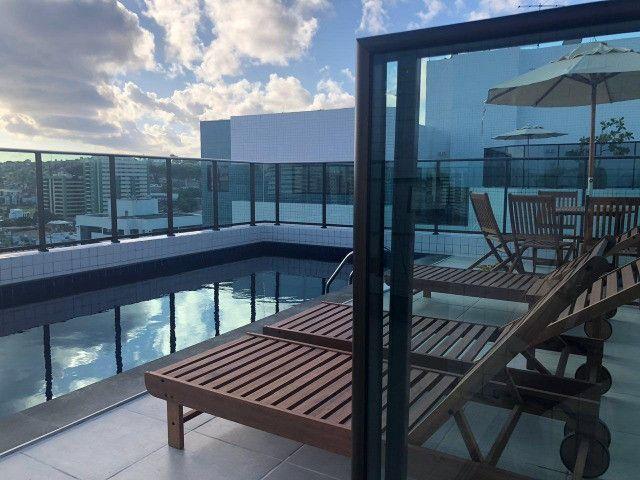 O Amplo 3/4 Varanda Novo/Pronto +DPE Com 109 m² Moderno-Melhor Localização da Jatiuca