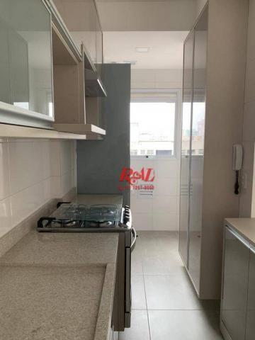 Apartamento com 2 dormitórios (1 suíte) à venda e locação, 72 m² - Gonzaga - Santos/SP - Foto 3