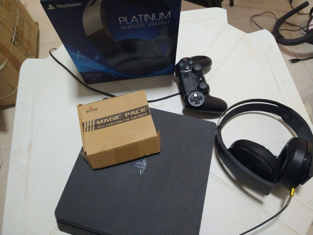 PS4 Slim 1 tera +fone original Playstation + Magicpack turbo  - Foto 2