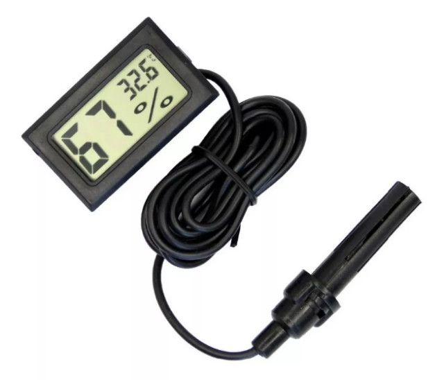 Termômetro Higrômetro Termo-higrômetro Digital Chocadeira - Foto 2