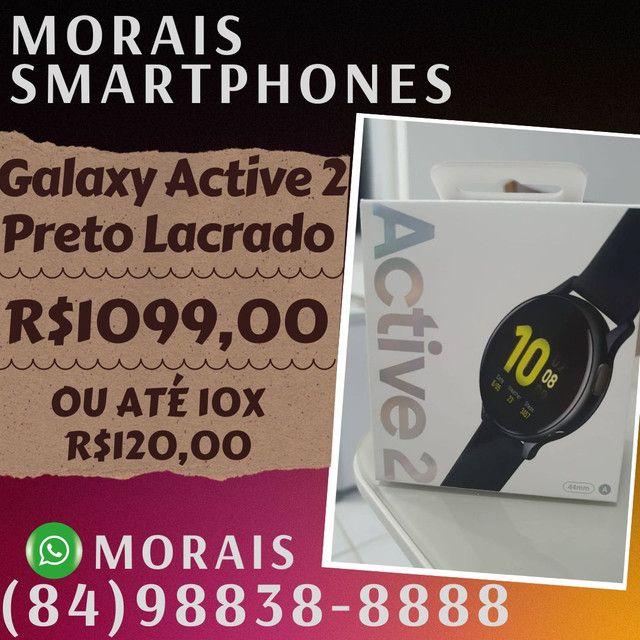 Samsung Galaxy Active 2 Preto Amoled (LACRADO+NOTA FISCAL)  - ( 8 4 ) 9 8 8 3 8 - 8 8 8 8