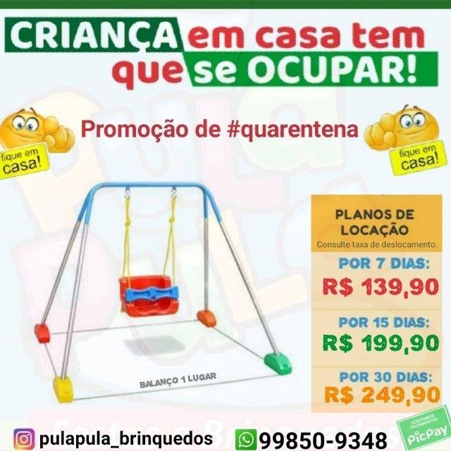 Promoção Aluguel brinquedos de playground em sua casa por 7, 15 e 30 dias