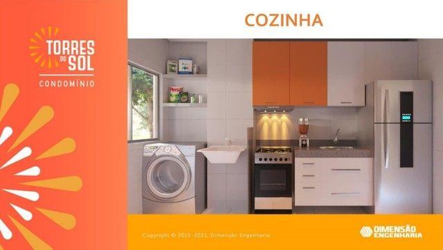 com apartamento de 44m², condomínio torres do sol, 2 quartos - Foto 2