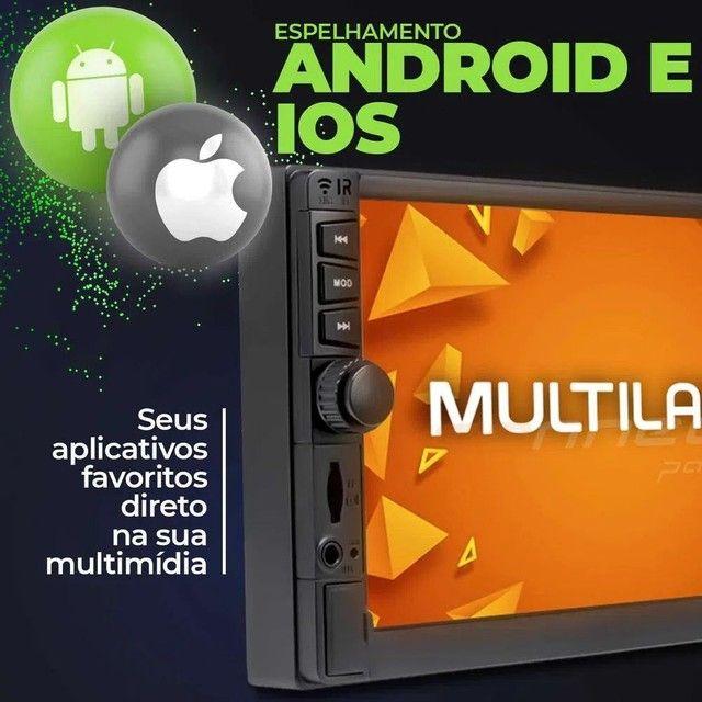 """Central Multimídia 2 Din 7"""" Multilaser Evolve GP345 TV Digital BT USB Espelhamento<br><br> - Foto 3"""