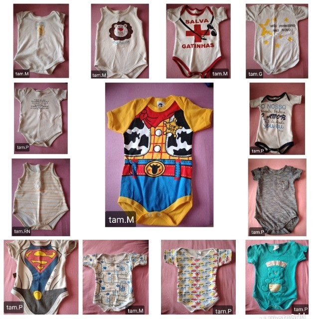 Kit roupas bebê