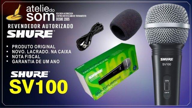 Microfone Dinâmico Shure SV100 Com Cabo. Original. Novo. Garantia 1 Ano.