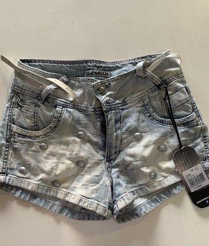 Shorts Feminino Novo com Cinto