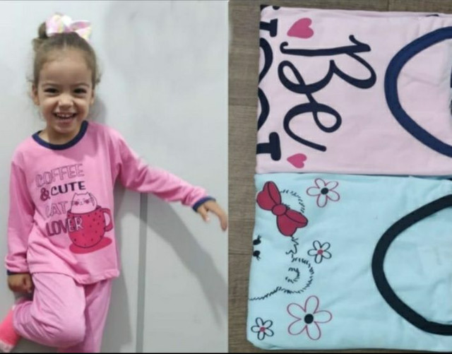 Pijamas infantis compridos - Foto 2