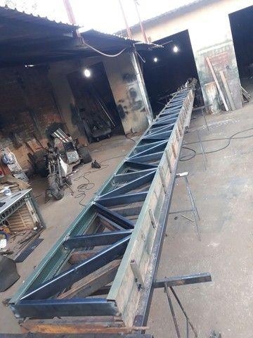 Fabricação de tesouras e estruturas de Galpões
