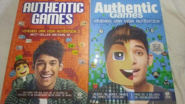 Kit de 6 livros do AuthenticGames