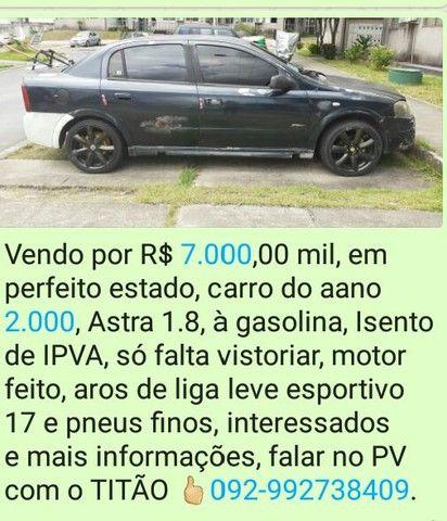 Carro Astra anon2000, pot. 1.8, só a gasolina