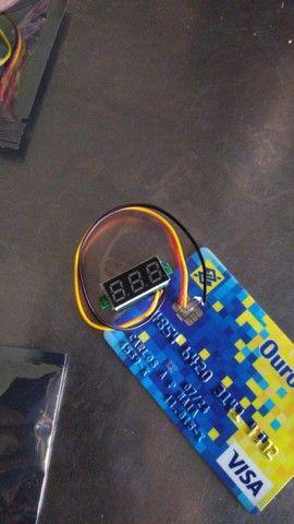 Mini Voltimetro digital 12v várias cores