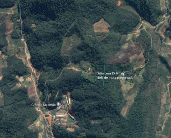Sitio de 35 Mil m² (3,5 Ha) com 40% de mata preservada