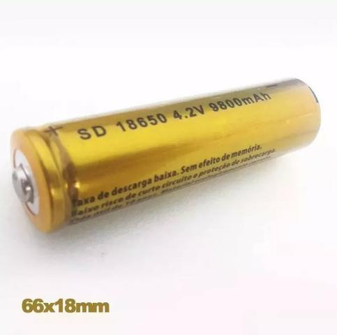 556 - Bateria Recarregável 8800 mah Profissional  18650 4 2v
