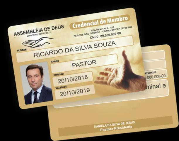 Carterinhas de Membros para Igrejas