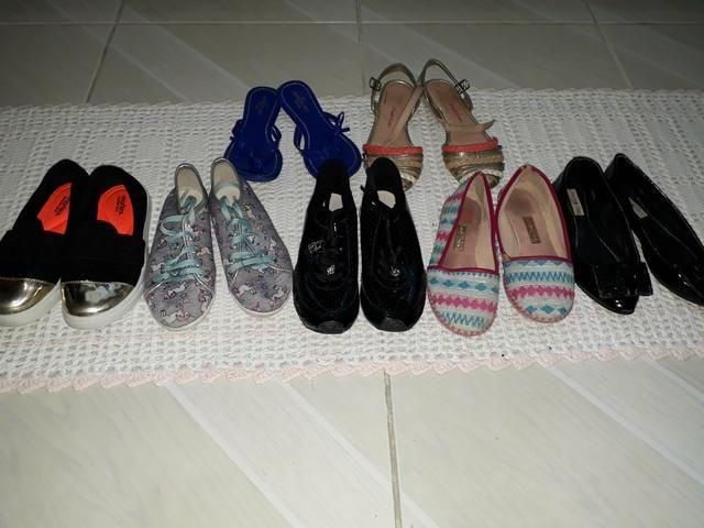 Kit 8 calçados infantis 29