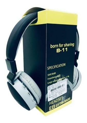 Fone De Ouvido Wireless Bluetooth Micro Sd Fm B11 - Foto 4