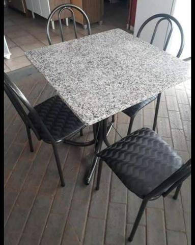 Mesa em granito 4 cadeiras, Nova - Foto 4