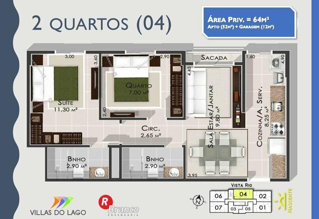 Apartamento para estudante e solteiros. Entrega Cozinha com modulados - Foto 5