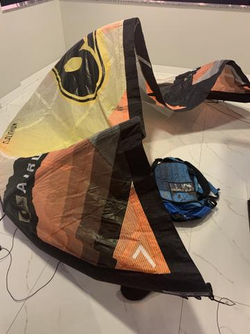 Kite Airush Lithium 2014 tamanho 7 com barra e Mochila - Foto 2