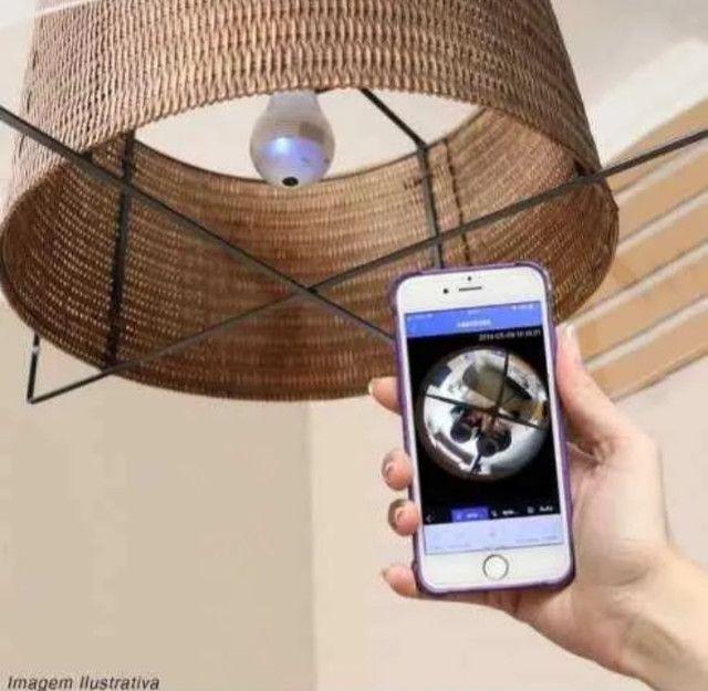 Lâmpada LED Câmera WIFI 360º - Foto 4