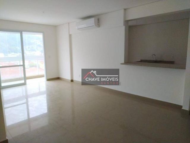 Apartamento com 3 dormitórios à venda, 111 m² por R$ 740.000,00 - Marapé - Santos/SP - Foto 4
