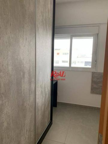 Apartamento com 2 dormitórios (1 suíte) à venda e locação, 72 m² - Gonzaga - Santos/SP - Foto 10