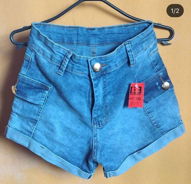 Short jens cintura alta