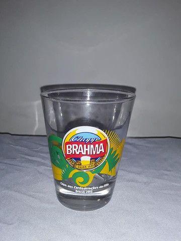 Copo cerveja chopp Brahma Copa das Confederações da Fifa Brasil 2013