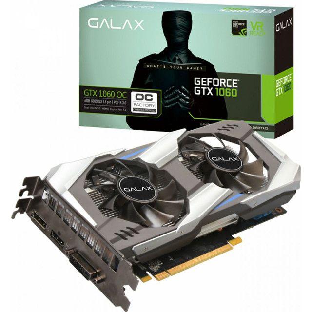 Placa de Vídeo Galax Geforce GTX 1060, OC 3GB