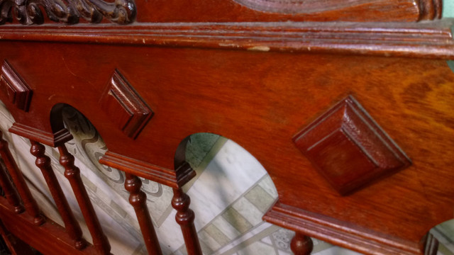 Cabeceira de cama antiga - Foto 2