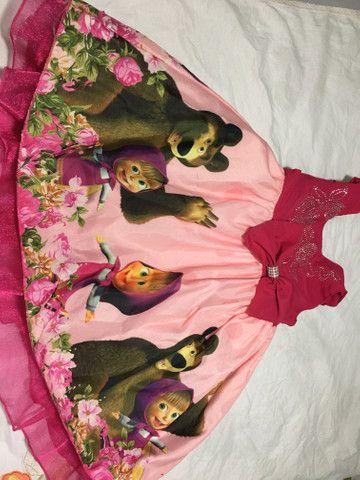 Vestido Marsha e o urso +painel de pano