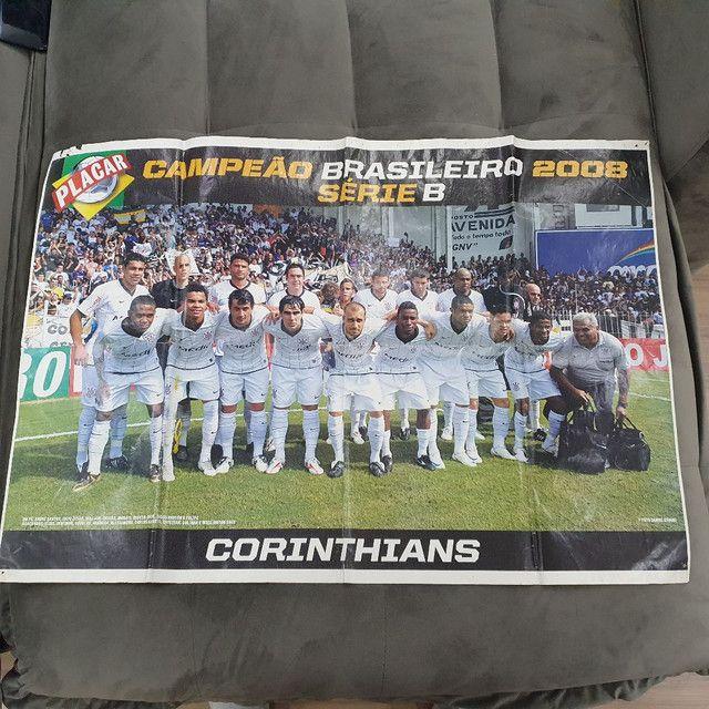 PÔSTER CORINTHIANS CAMPEÃO BRASILEIRO SERIE B 2008