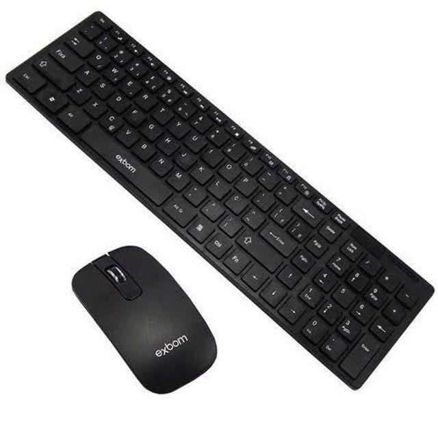 Kit teclado e mouse sem fio exbom com película para o teclado - Foto 4