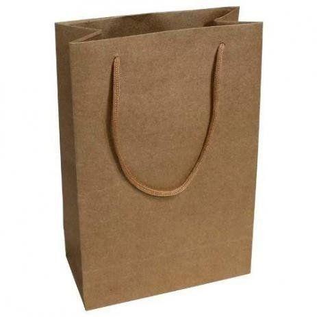 Trabalho com sacolas de papel Kraft e ofset branca  - Foto 2