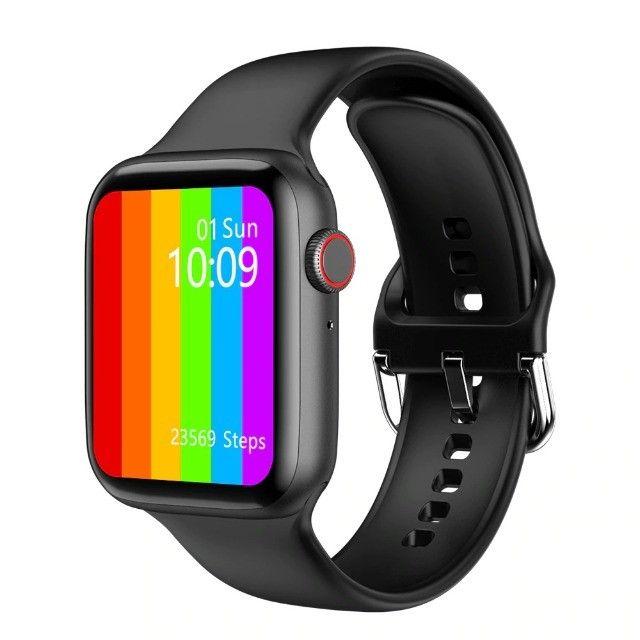 Smartwatch Iwo 46 + Pulseira Metálica - Foto 4