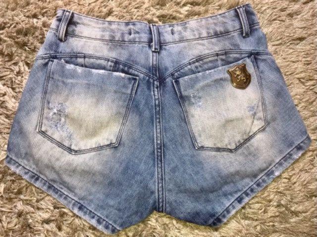 Short Saia Jeans Llamenina Feminino Tam 38 - Foto 3