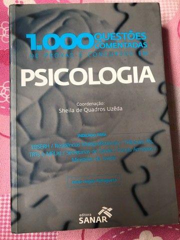1000 Questões comentadas de provas e concursos em Psicologia