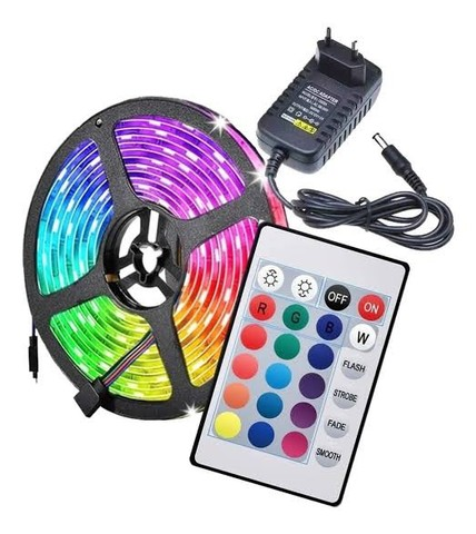 LED RGB COM FONTE e CONTROLE - Foto 2