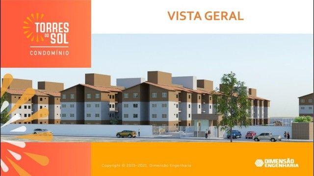 com apartamento de 44m², condomínio torres do sol, 2 quartos - Foto 3