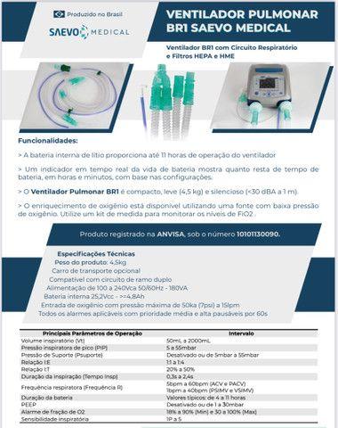 Ventilador Pulmonar BR1 Saevo Medical - Respirador (Pronta Entrega) - Foto 5