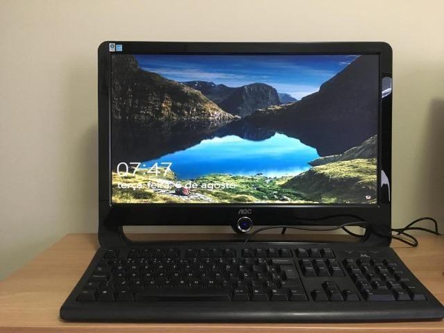 Computador completo Core 2 Duo, 4 GB, 500 GB HD