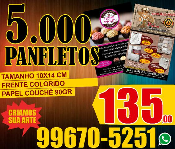 Serviços Gráficos I Panfletos I 10X14cm I 5.000 Un.R$ 135,00