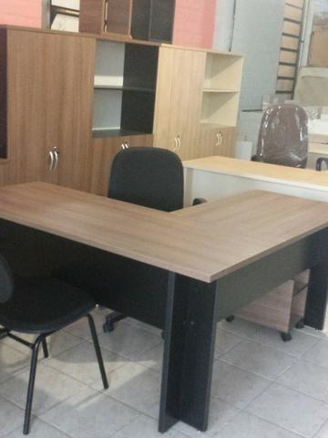 Estação de trabalho para escritório modelo em L (nova) - Foto 2