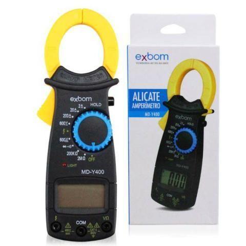 Alicate Amperímetro Profissional Digital Medição 600v Exbom - Foto 4