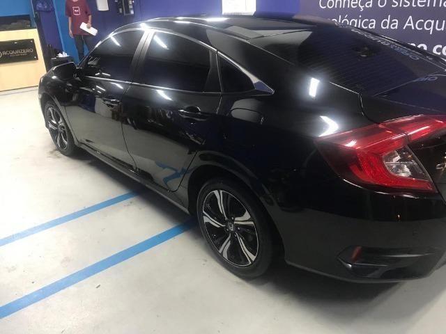 Honda Civil EXL, 2017, preto Batmóvel. Único Dono. Maravilhoso - Foto 5