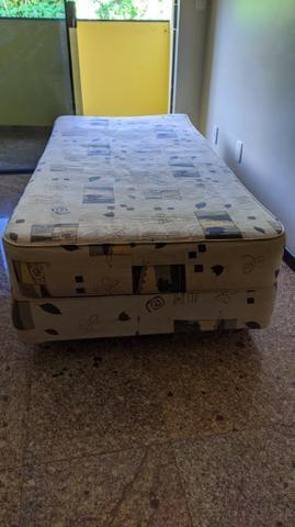 Cama BOX Com Colchão Solteiro - Molas Bonnel - Foto 2