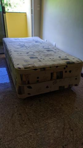 Cama BOX Com Colchão Solteiro - Molas Bonnel