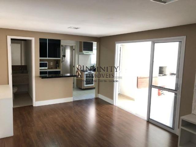 Apartamento 90 m², 2 suítes, sala estendida, varanda gourmet, 1 vaga, Aquárius