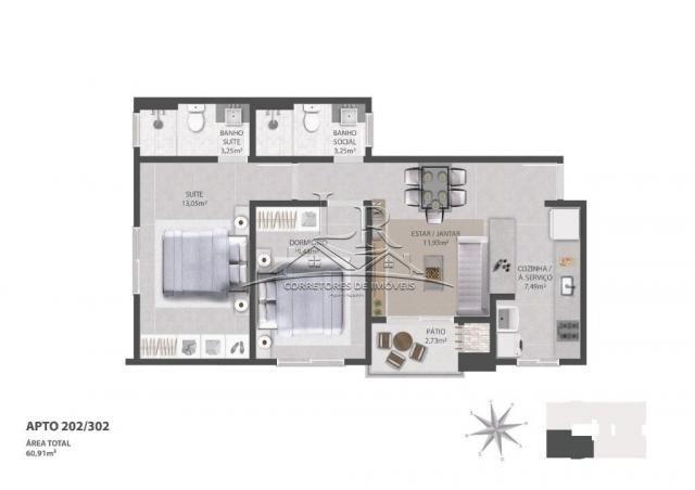 Apartamento à venda com 2 dormitórios em Ingleses do rio vermelho, Florianópolis cod:1647 - Foto 7